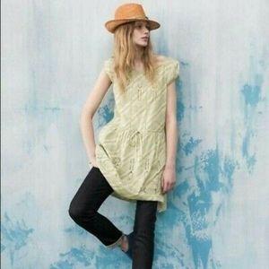 Anthro Meadow Rue Konza eyelet dress tunic green 0
